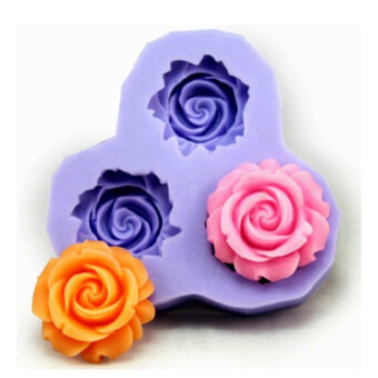Harga Bakeware Silicone Flower Baking Molds for Fondant Candy ChocolateCake