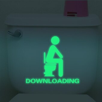 Bathroom Luminous Sticker Toilet Fluorescent Wall Sticker RemovableSticker - intl