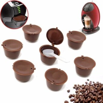 Beautymaker 7x Refillable Reusable Coffee Capsules For Dolce Gusto Brewers Refill Cup Filter - intl