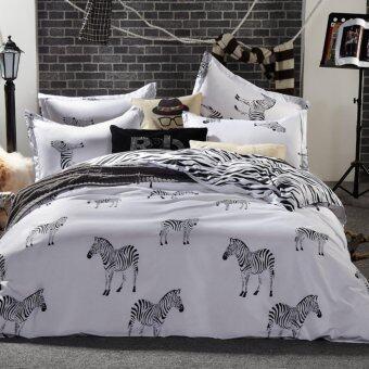 Bedding Cheap ผ้าปูที่นอน ชุดผ้านวม 6 ฟุต 6 ชิ้น รุ่น ARK205