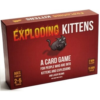 Board Game Cards - Exploding Kittens Poker Game for Party - Miniboard game(Red) - intl