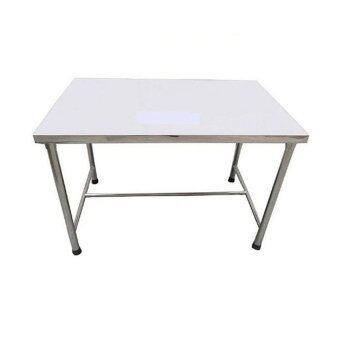 CareCraft โต๊ะอาหารสแตนเลสถอดประกอบ 4 ฟุต