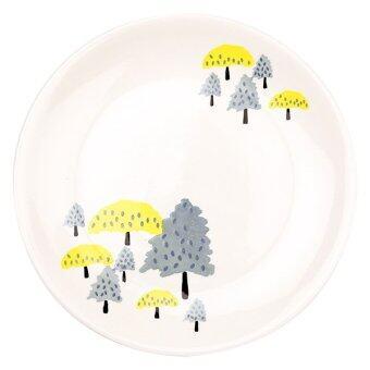 Chabatree Clement จาน เซรามิค 20 cm - สีเหลือง