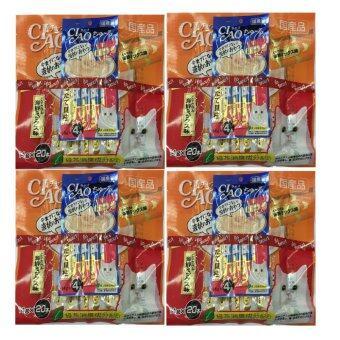 CIAO ขนมแมวเลีย ชูหรู  เนื้อสันในไก่ผสมซีฟู๊ด  จำนวน 20 ซอง ( 4 units )  แถมฟรี 4 ห่อเล็ก