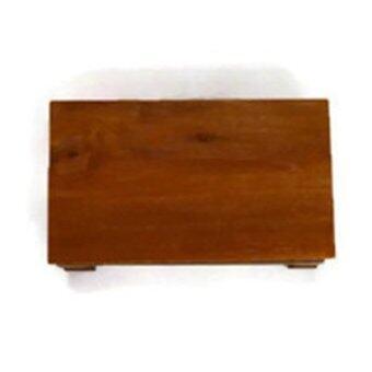 Clever Monk โต๊ะวางพระ ไม้สัก ขนาด 8x12 นิ้ว ขาสูง10 นิ้ว -สีน้ำตาล