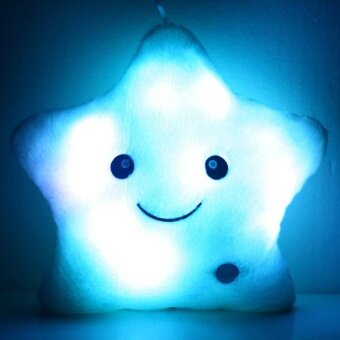 Harga Colorful Stuffed Toy Gift Dolls LED Glowing Stars Plush Pillows Cushion Light Up - intl