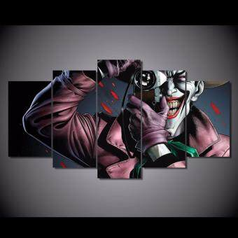 Harga Comic batman the killing joke Painting on Canvas Modular Picturewall Art Joker Paintings Home decor 5 pieces Unframed - intl