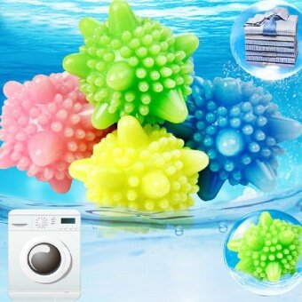 Convenient Clear Laundry Balls Fabric Washing Balls Clothes Cleaning Tool PVC Fashion Personal Care Ball Color Random - intl