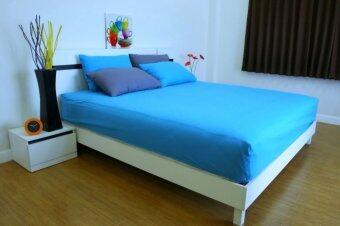 Cotton Soft ชุดผ้าปูที่นอน รุ่น base soft 3.5 ฟุต 3 ชิ้น (Brightblue)