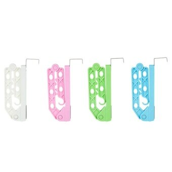 Creative Drying Rack 5 Hole Foldable Door Hanging Clothes Hanger Rack