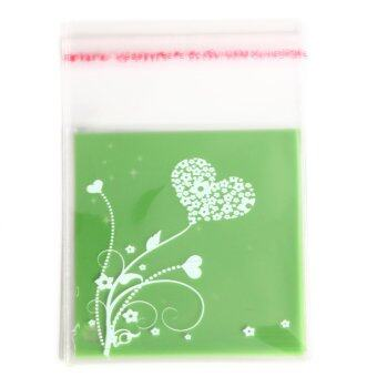 Cute 100Pcs Cookies Candy Self Adhesive Package Party Christmas Gift Bags7x7cm