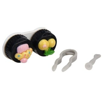 Cute Food Shape Travel Portable Contact Lens Lenses Container CaseRed - intl