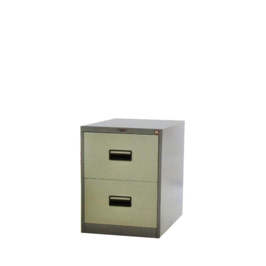 DAXTON ตู้ลิ้นชักเหล็ก ตู้เก็บเอกสาร 2 ลิ้นชัก สีเทาสลับ รุ่น 2L - Gray Two Tone (ส่งฟรีกรุงเทพฯและปริมณฑลเท่านั้น)