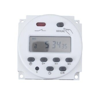 Digital LCD Display Power Timer Weekly 7Days Programmable Time Relay Switch(White) - intl