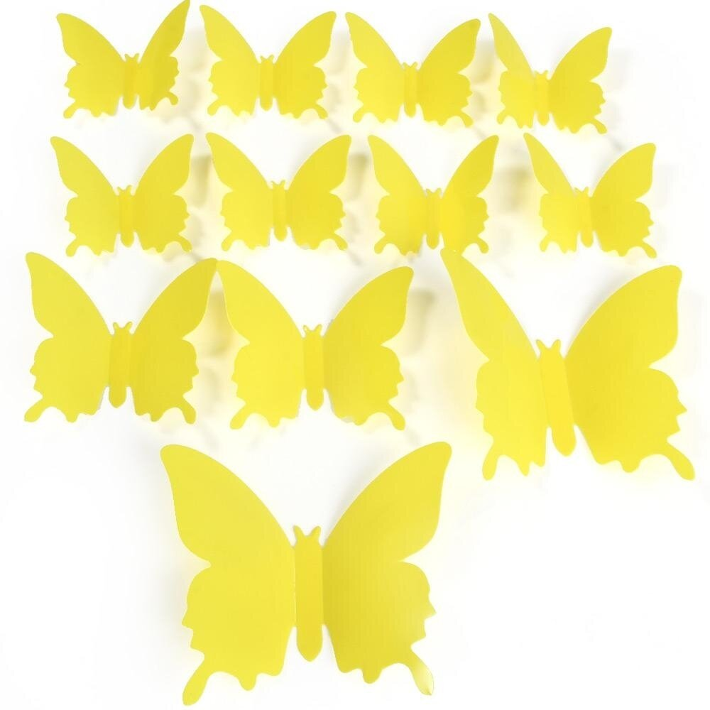 DIY 3D Butterfly Wall Stickers Mirror Art Decal PVC Paper for Home ...