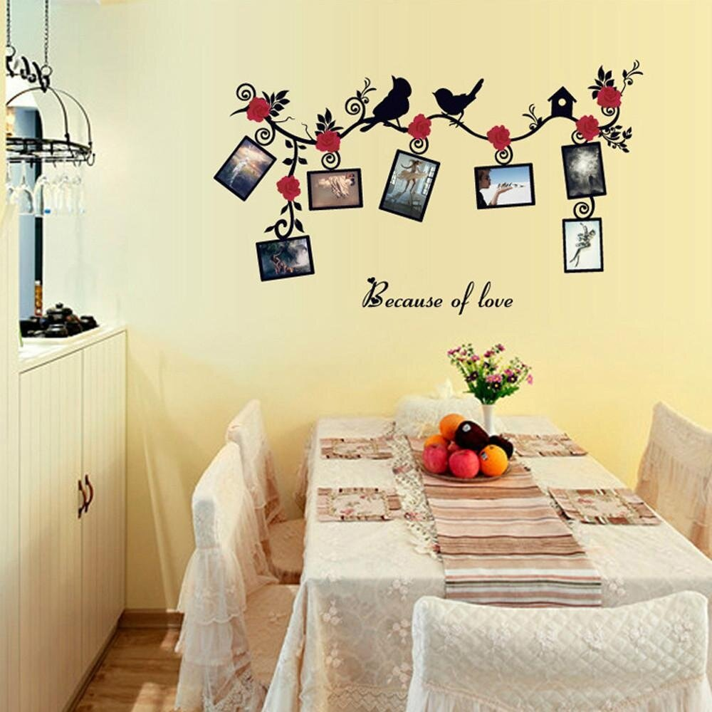 DIY Removable Photo Bird PVC Wall Decal Family Home Sticker Mural ...