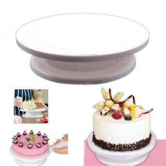 DIY Rotating Revolving Cake Decorating Stand Birthday Wedding Cake Turntable Baking Tools - intl