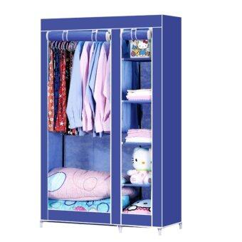 Dmall Multifunctional Non-woven Wardrobe โดยต้นไม่ทอ - Blue