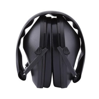 Ear Muffs Hearing Protection Shooting Foldable Noise Reduction 21dB(Black) - intl