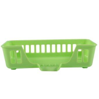 ELEC Kitchen Bathroom Sink Storage Basket Hanging ShelvingOrganizer Holder Box Green - intl
