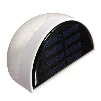 ENJOYSHOP Solar Power Garden ไฟทางเดิน ไฟสนาม โคมไฟ โซล่าเซลล์ พลังแสงอาทิตย์ รุ่น 6Led (สีขาว)