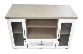 ENZIO ชั้นวางทีวี ขนาด 120 ซม. รุ่น Minimal - ItalyCAPPUCCINO/White