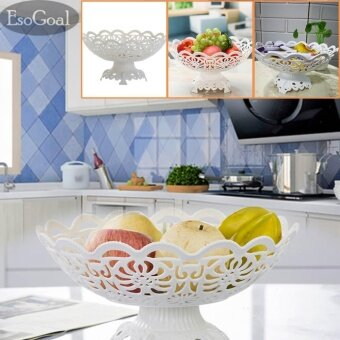 Harga EsoGoal Fruit Plate Hollow Plate for Fruits Cakes Desserts CandyBuffet Stand for Home & Party - intl