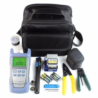 Fiber Optic FTTH Tool Kit with FC-6S Fiber Cleaver and Optical Power Meter 5km