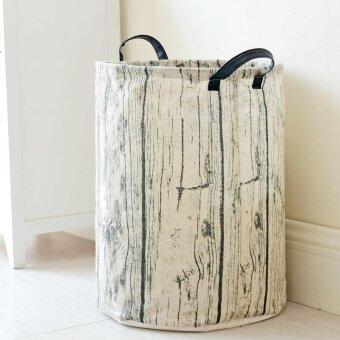 Foldable Waterproof Cotton&Linen Laundry Basket Large CapacityDirty Clothes Storage Barrel Washing Hamper Household SundriesOrganizer Pouch 35*45cm
