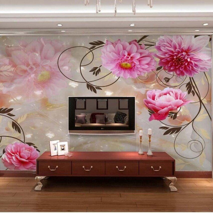 FRD 3D Embossed Flower Photo Wallpaper Murals Wall Paper Non Woven Forsitting Room Living