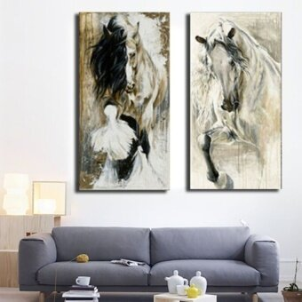 FRD Hand-Painted Horse Oil Painting Print Art Wall Home Bedroomdecor Unframe - intl