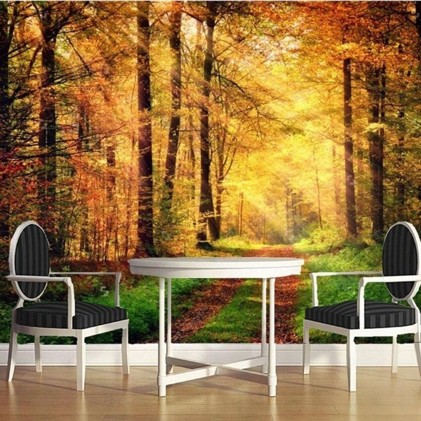 FRD Modern 3D Natural Landscape Photo Wall Mural Wallpaper Rolls Home Art Decorative Sticker
