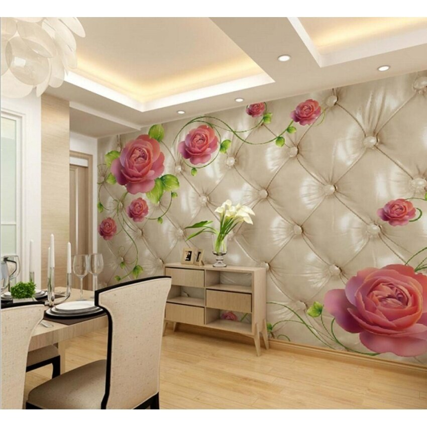 FRD Modern Flower Mural Photo Wallpapers Living Room Tv Sofa Backgroundfloral Wall Paper 3D Murals