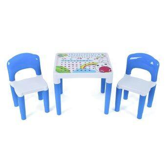 Freezeto ชุดโต๊ะพร้อมเก้าอี้นักเรียนพลาสติก Family Set (สีฟ้า)