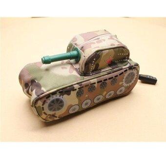 Fun Tank Shape Pencil Case School Bag Pen Box Stationery School Pen Case Purse - intl