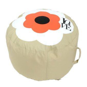 ต้องการขาย GALAXY ปลอก BEAN BAG ที่นั่งสตู ทรงกระบอก ลายดอกไม้(แบบไม่รวมเม็ดโฟม) สีส้ม