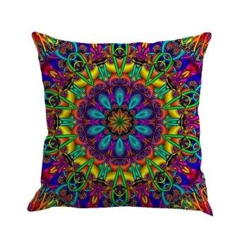 Geometry Painting Linen Cushion Cover Throw Pillow Case Sofa Home Decor E - intl