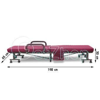 Getservice เตียงนอนพับได้ เตียงเหล็ก เตียงเสริม พร้อมเบาะรองนอน Jin Shu รุ่น 118 ขนาด 192 x 65 x 30 ซม. รีวิว