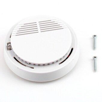 Gift Fire Smoke Sensor Detector Alarm Tester Cordless Home FamilyGuard Security White - intl