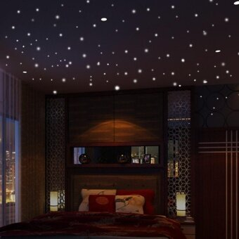 Glow In The Dark Star Wall Stickers 407Pcs Round Dot Luminous KidsRoom Decor - intl