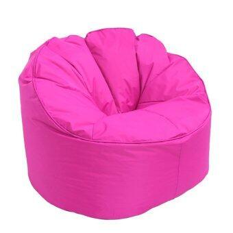 Goldex Bean bag เก้าอี้นิ่มพร้อมใส่เม็ดโฟม ทรงกลม ขนาด 1 คนนั่ง(สีชมพู)