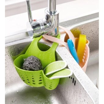 Harga good Push the kitchen sink rack(GREEN)ซื้อ 1 แถม 1(คละสี)