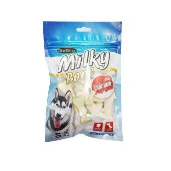 Goodies ขนมขัดฟันสุนัขรูปทรงกระดูก Goodies Milky Boneรสนม ไซส์S(25ชิ้น)