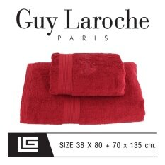 GuyLaroche Bathtowel Premium Set 38X80+70x135cm.RED