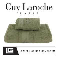 GuyLaroche Bathtowel Premium Set (38X80+80x152cm. Free Gift Set ) GREEN