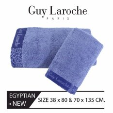GuyLaroche  Luxury Egyptian  GiftSet (70x135cm.+38x80cm.) BLUE