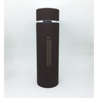 ขวดน้ำ H2O เก็บความร้อนความเย็น พร้อมที่กรองชา 450 ml-สีน้ำตาล