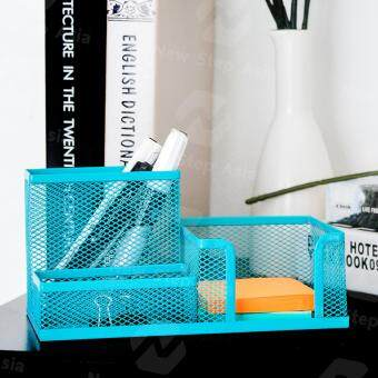 Hakone กล่องเหล็กเก็บปากกา ที่เสียบปากกา กล่องใส่ปากกา ที่เสียบดินสอ กล่องใส่เครื่องเขียน ที่ใส่เครื่องเขียน (สีเขียวมิ้น)