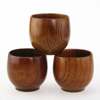 Hand-made natural Wooden Wine Cup tea Cup 80ml 3pcs - intl