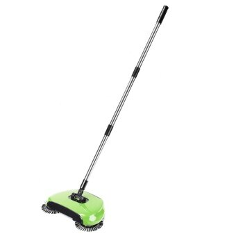ขาย Hand Push Sweeper Spin Broom Household Floor Dust Cleaning Mop No Electricity Green